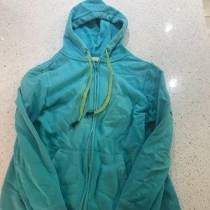 Womans blue old navy zip hoodie large